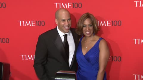 cory booker and gayle king at the time 100 gala, time's 100 most influential people in the world at new york ny. - gayle king stock videos & royalty-free footage