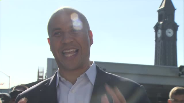 Cory Booker Thanks Supporters With Hoboken Mayor Dawn Zimmer By Hoboken PATH Train Station Cory Booker Meet and Greet With Hoboken Residents on...