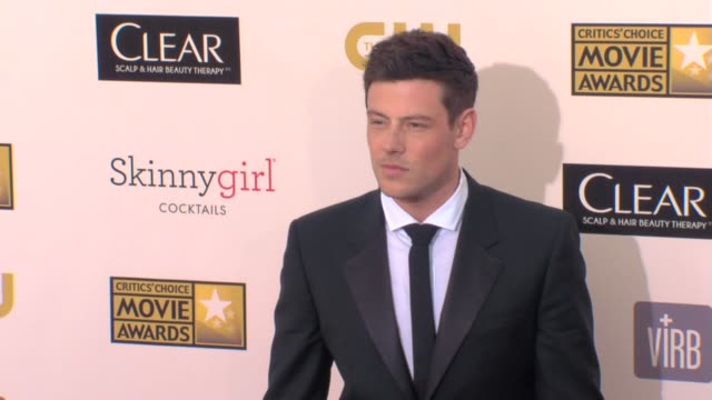 cory monteith at 18th annual critics' choice movie awards 1/10/2013 in santa monica ca - cory monteith stock videos and b-roll footage