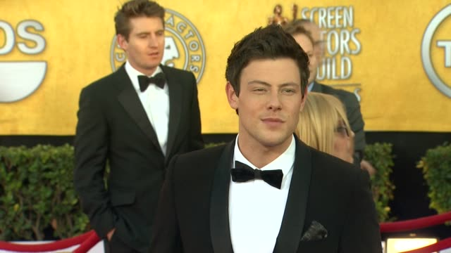 cory monteith at 18th annual screen actors guild awards arrivals on 1/29/12 in los angeles ca - cory monteith stock videos and b-roll footage