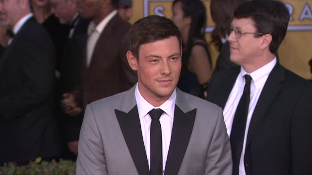 cory monteith at 19th annual screen actors guild awards arrivals on 1/27/13 in los angeles ca - cory monteith stock videos and b-roll footage
