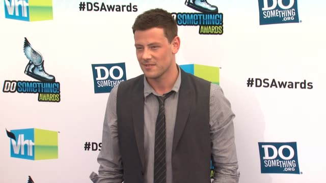 cory monteith at 2012 do something awards on 8/19/12 in santa monica ca - cory monteith stock videos and b-roll footage