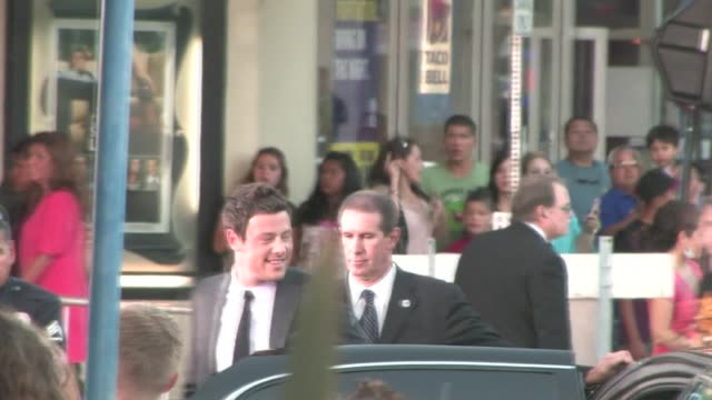 cory monteith at glee the 3d concert movie premiere in westwood - cory monteith stock videos and b-roll footage