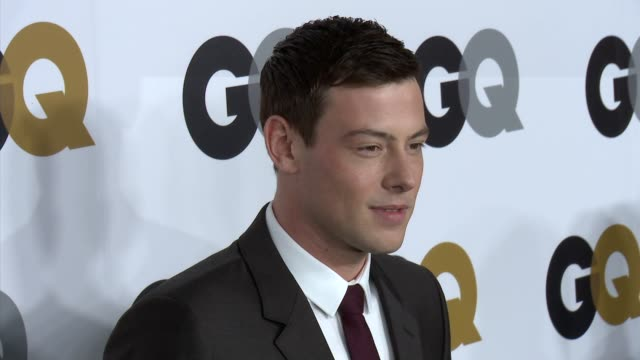 cory monteith at gq's 2012 men of the year party on 11/13/12 in los angeles ca - cory monteith stock videos and b-roll footage