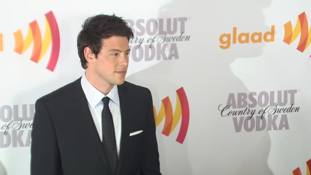 cory monteith at the 2010 glaad media awards at century city ca - cory monteith stock videos and b-roll footage