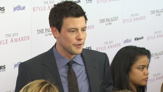 cory monteith at the 2010 hollywood style awards at los angeles ca - cory monteith stock videos and b-roll footage