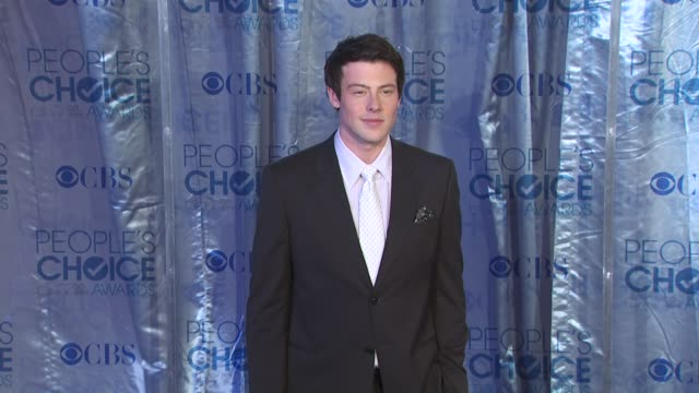 cory monteith at the 2011 people's choice awards arrivals at los angeles ca - cory monteith stock videos and b-roll footage