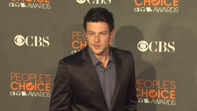 cory monteith at the 36th annual people's choice awards at los angeles ca - cory monteith stock videos and b-roll footage