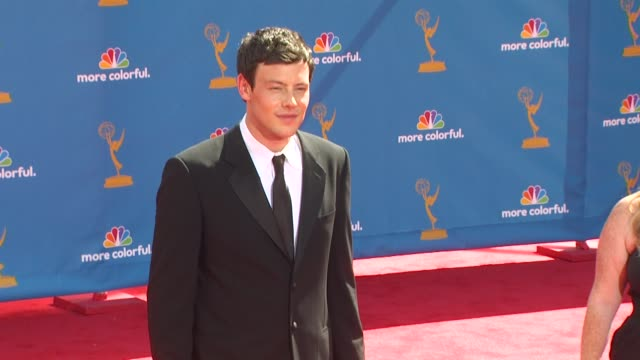 cory monteith at the 62nd primetime emmy awards arrivals at los angeles ca - cory monteith stock videos and b-roll footage