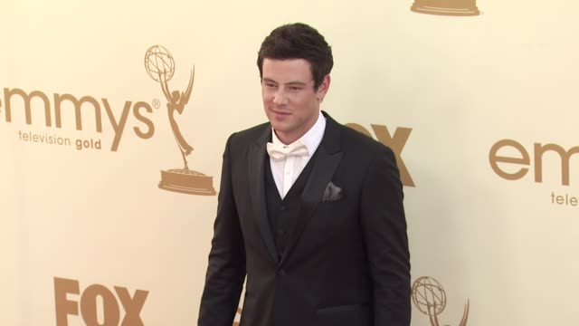 cory monteith at the 63rd primetime emmy awards arrivals part 2 at los angeles ca - cory monteith stock videos and b-roll footage