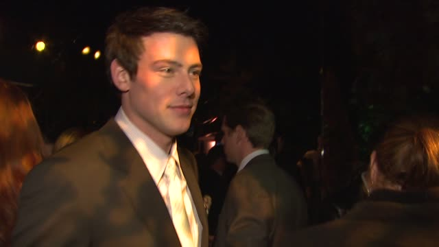 cory monteith at the covergirl cosmetics' 50th anniversary party at west hollywood ca - cory monteith stock videos and b-roll footage
