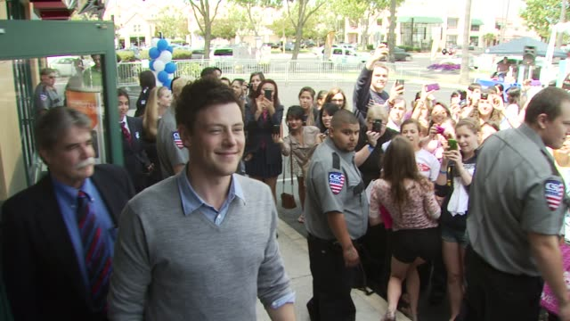 cory monteith at the glee live samsung infuse 4g dtr event stevens creek att store at san jose ca - cory monteith stock videos and b-roll footage