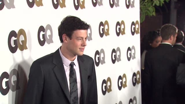 cory monteith at the gq's 'men of the year' party at los angeles ca - cory monteith stock videos and b-roll footage