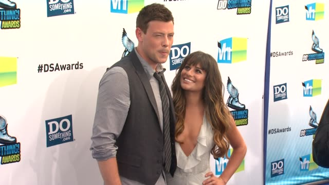 cory monteith lea michele at 2012 do something awards on 8/19/12 in santa monica ca - cory monteith stock videos and b-roll footage