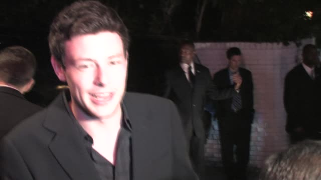 cory monteith leaving chateau marmont in west hollywood at the celebrity sightings in los angeles at los angeles ca - cory monteith stock videos and b-roll footage