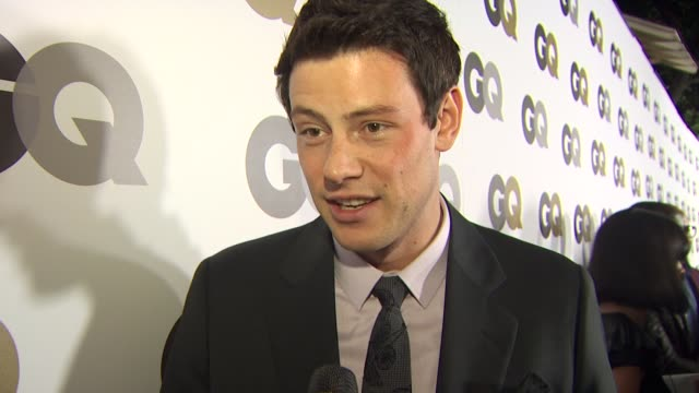 cory monteith on coming out to support gq his controversial gq cover what it means to be featured on the cover of gq his favorite jeff bridges film... - cory monteith stock videos and b-roll footage
