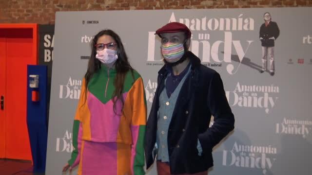 cosima ramirez and tristan ramirez at photocall for documentary film anatomia de un dandy - documentary film stock videos & royalty-free footage