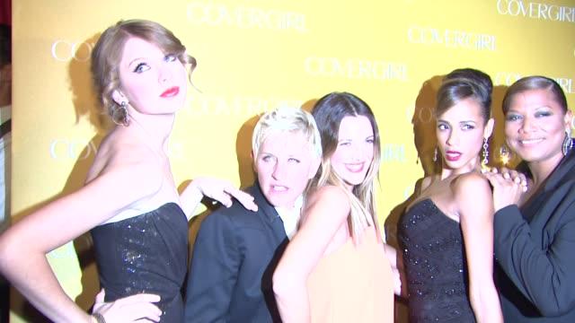 vídeos y material grabado en eventos de stock de cosmetics' 50th anniversary party los angeles ca united states 1/5/11 - queen latifah
