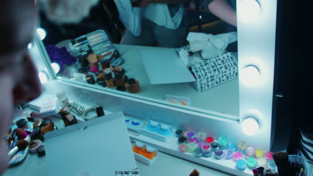 Cosmetics in make-up room