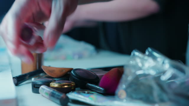 cosmetics in make-up room - less than 10 seconds stock videos & royalty-free footage