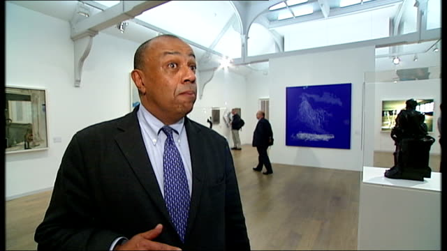 Cosmonaut Yuri Gagarin to be honoured with statue in London ENGLAND London Whitechapel Art Gallery INT Lord Boateng interview SOT Various shots of...