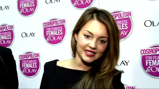 cosmopolitan ultimate woman of the year awards 2009 arrivals and interviews turner interview sot on x factor loving john and edward and olly murs /... - megan fox stock videos and b-roll footage