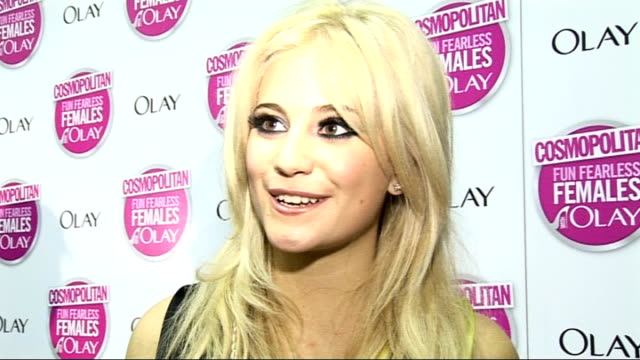 Cosmopolitan Ultimate Woman of the Year Awards 2009 Arrivals and interviews Pixie Lott interview SOT On winning awards at Cosmopolitan and MTV / On...