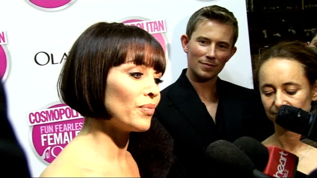 Cosmopolitan Ultimate Woman of the Year Awards 2009 Arrivals and interviews Dannii Minogue interview SOT On being 'Personality of the Year' / On...