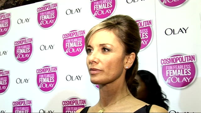 cosmopolitan ultimate woman of the year awards 2009: arrivals and interviews; outhwaite interview sot - on the outhwaite christmas / her christmas... - only girls stock videos & royalty-free footage