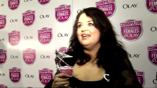 cosmopolitan ultimate woman of the year awards 2009 arrivals and interviews ruth jones interview sot on new series of gavin and stacey coming up end... - sheridan smith stock videos & royalty-free footage