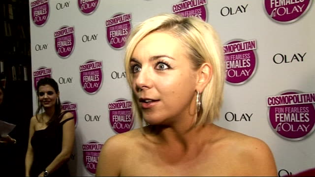 cosmopolitan ultimate woman of the year awards 2009 arrivals and interviews sheridan smith interview sot on rehearsals for legally blonde / on... - sheridan smith stock videos & royalty-free footage