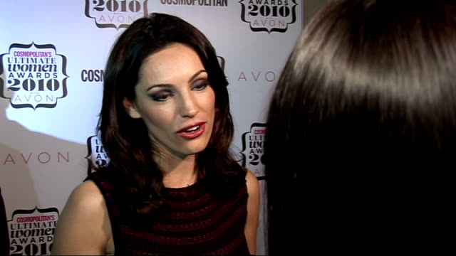 'cosmopolitan ultimate women of the year awards 2010': press room interviews; kelly brook speaking to press and interview sot - on her slim size,... - the x factor stock videos & royalty-free footage