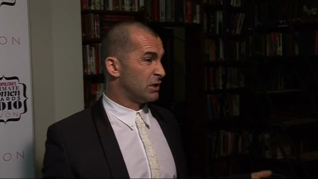 'cosmopolitan ultimate women of the year awards 2010' press room interviews louie spence interviewed by other crew sot on presenting an award to... - sheridan smith stock videos & royalty-free footage