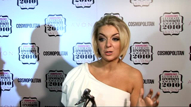 'cosmopolitan ultimate women of the year awards 2010' press room interviews sheridan smith interview sot on starring in the west end loves louie... - sheridan smith stock videos & royalty-free footage