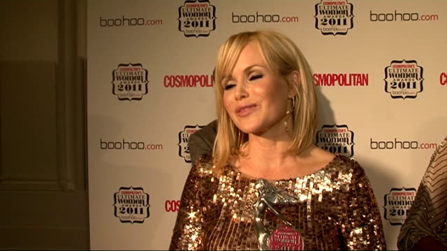 cosmopolitan ultimate women of the year awards 2011 celebrity interviews amanda holden speaking to press amanda holden posing with ultimate theatre... - replacement stock videos & royalty-free footage