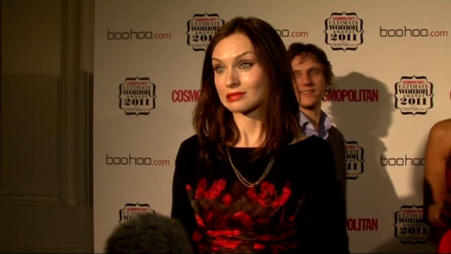 cosmopolitan ultimate women of the year awards 2011 celebrity interviews sophie ellis bextor interview sot on the cosmopolitan awards / the new amy... - glee tv show stock videos and b-roll footage