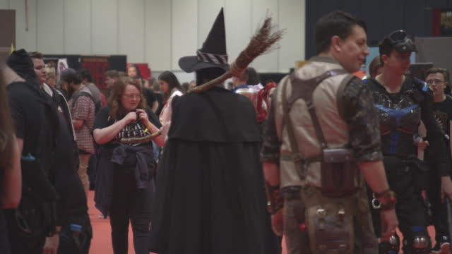 Cosplay attendees at MCM London Comic Con at ExCel on October 27 2017 in London England