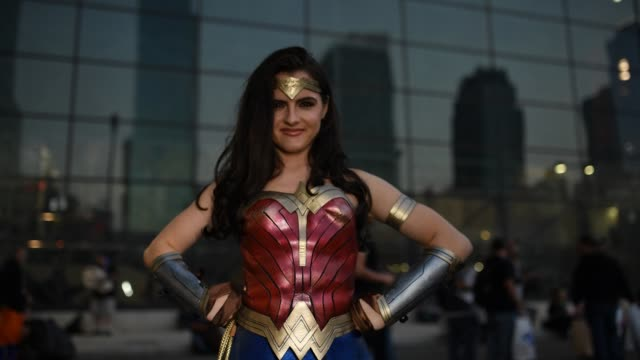 Cosplayer attends New York Comic Con 2018 at Jacob K Javits Convention Center on October 5 2018 in New York City