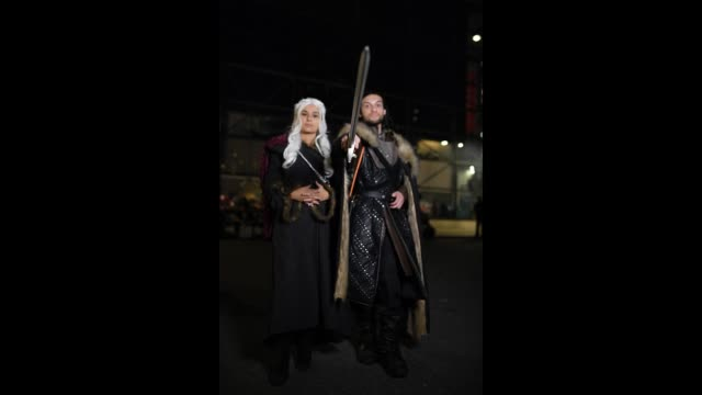 Cosplayers attend New York Comic Con 2018 at Jacob K Javits Convention Center on October 5 2018 in New York City