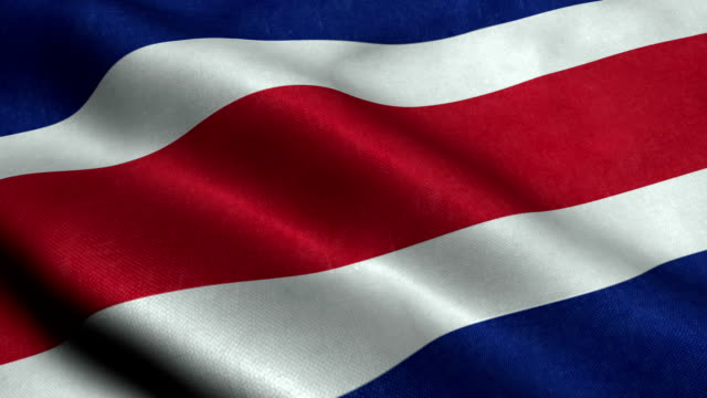 costa rica flag - costa rica stock videos and b-roll footage