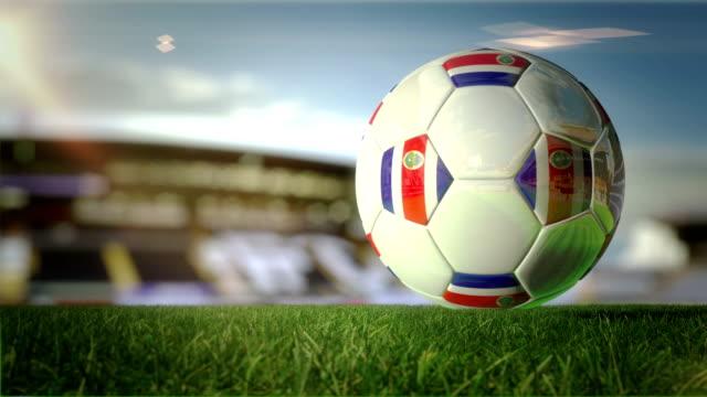 Costa Rican Ball Turn At Stadium - Loopable