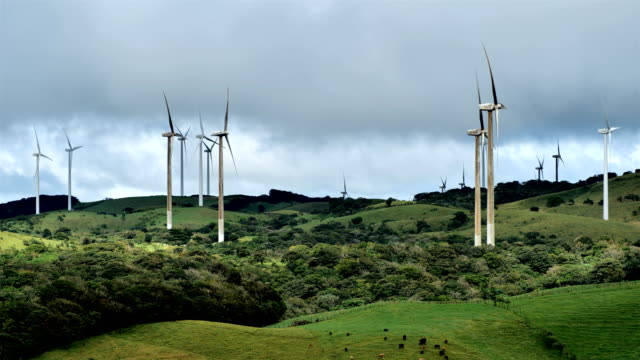 costa rican countryside: windmills - eco tourism stock videos & royalty-free footage