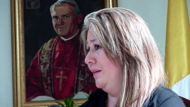 costa rican floribeth mora says she was cured of a serious brain condition by a miracle attributed to the late pope john paul ii. clean : the miracle... - san jose costa rica stock videos & royalty-free footage