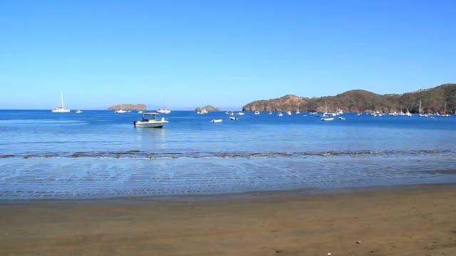 costa rican harbor anchorage - marina stock videos & royalty-free footage
