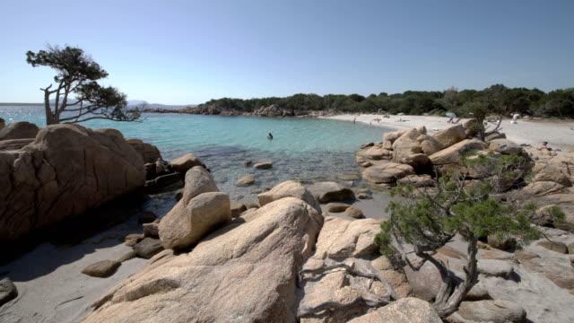 costa smeralda beach - spiaggia stock videos & royalty-free footage