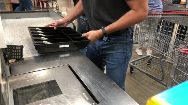 costco cashier - cashier stock videos & royalty-free footage