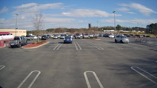 costco parking lot in the north georgia, usa - fast motion stock videos & royalty-free footage