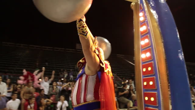 costumed carnivale performers sparkle and dance in argentina mardi gras parade - strongman stock videos & royalty-free footage