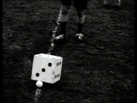 1939 b/w costumed hockey match on a grass pitch / netherlands - field hockey stock videos and b-roll footage