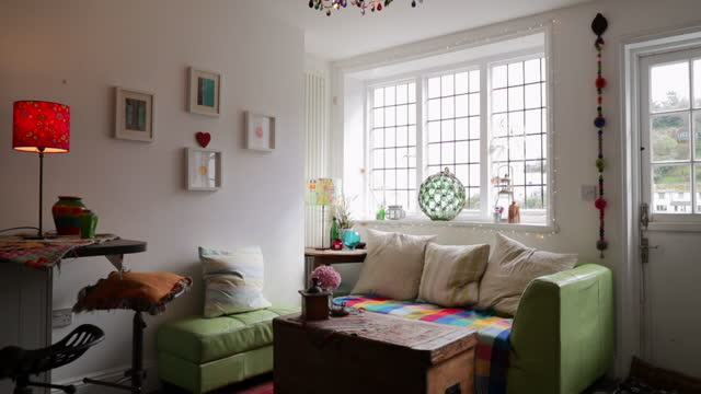 cosy living room - living room stock videos & royalty-free footage